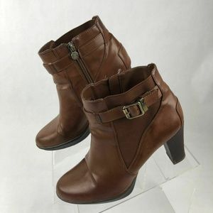 Eitenne Aigner Brown Ankle Boots Booties Size 9 M